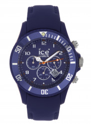 Ice-Watch CH.BE.B.L Men's Chrono Blue Calf Skin Quartz Watch with Blue Dial