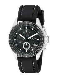 Fossil Men's Decker Chronograph Black Silicone Watch CH2573