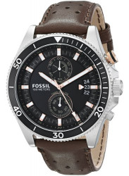 Fossil Men's Wakefield Chronograph Brown Leather Watch CH2944