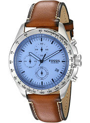 Fossil Men's Sport 54 Chronograph Brown Leather Watch CH3022