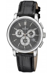 Charmex Kyalami Black Dial Chronograph Alarm Stainless Steel Men's Watch 2066