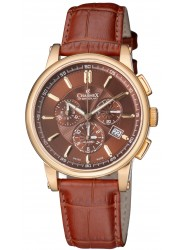 Charmex Kyalami Brown Dial Chronograph Alarm Stainless Steel Men's Watch 2063