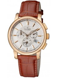 Charmex Kyalami Beige Dial Chronograph Alarm Stainless Steel Men's Watch 2060