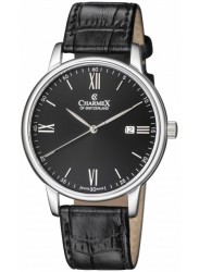 Charmex Amalfi Black Dial Stainless Steel Men's Watch CX-3017