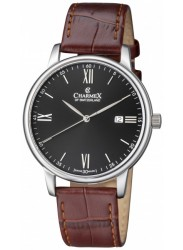 Charmex Amalfi Black Dial Stainless Steel Men's Watch CX-3021