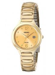 Seiko Women's Core Champagne Dial Solar Watch SUT180