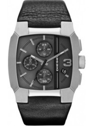 Diesel Men's Cliffhanger Chronograph Black Leather Watch DZ4275