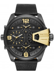 Diesel Men's Uber Chief Black Leather Watch DZ7377