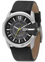 Diesel Men's Black Dial Leather Watch DZ1295