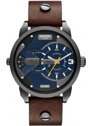 Diesel Men's Mini Daddy Blue Dial Brown Leather Watch DZ7339