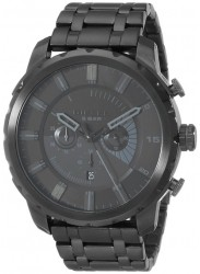 Diesel Men's Stronghold Black Stainless Steel Watch DZ4349