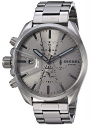 Diesel Men's MS9 Chronograph Grey Dial Grey Stainless Steel Watch DZ4484