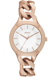 DKNY Women's White Dial Rose Gold Tone Watch NY2218