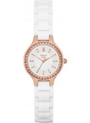 DKNY Women's Chambers White Dial White Ceramic Watch NY2251