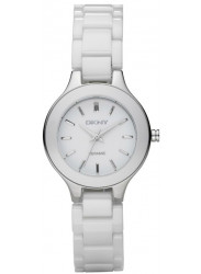 DKNY Women's White Dial White Ceramic Watch NY4886