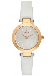 DKNY Women's Stanhope White Dial White Leather Watch NY8835