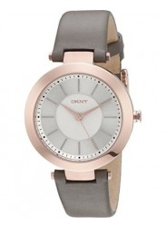 DKNY Women's Stanhope Silver Dial Grey Leather Watch NY2296