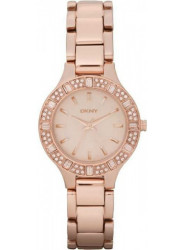 DKNY Women's Chambers Rose Dial Rose Gold Tone Watch NY8486