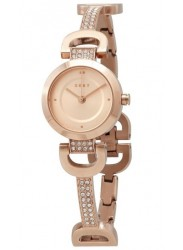 DKNY Women's City Rose Gold Dial Rose Gold Stainless Steel Watch NY2752