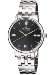Charmex Amalfi Black Dial Stainless Steel Men's Watch CX-3036