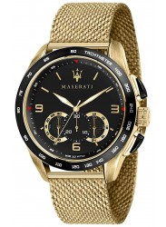 Maserati Men's Traguardo Chronograph Black Dial Gold Stainless Steel Watch R8873612010