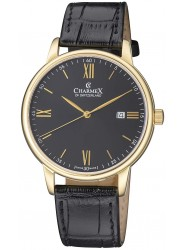 Charmex Amalfi Black Dial Stainless Steel Men's Watch CX-3027