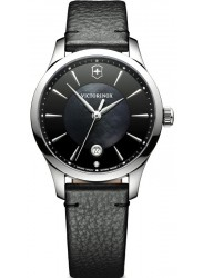 Victorinox Women's Swiss Army Alliance Small Black Dial Black Leather Watch 241754