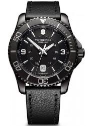Victorinox Men's Maverick Black Dial Black Leather Watch 241787