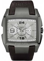 Diesel Men's Silver Dial Brown Leather Watch DZ1216