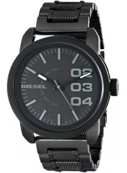 Diesel Men's Black Textured Stainless Steel Watch DZ1371
