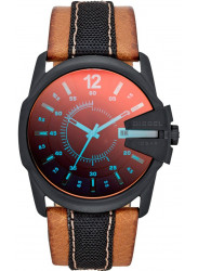 Diesel Men's Chief Black Dial Brown Leather Watch DZ1600