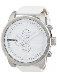Diesel Unisex White Dial White Leather Watch DZ4240