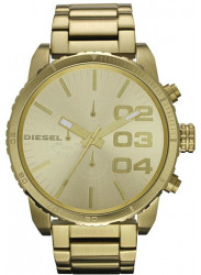 Diesel Men's Chronograph Gold-tone Dial Gold Tone Watch DZ4268