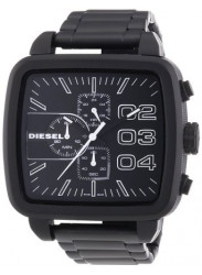 Diesel Men's Square Black Stainless Steel Watch DZ4300