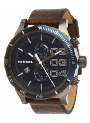 Diesel Men's Double Down Chronograph Brown Leather Watch DZ4312