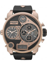 Diesel Men's Mr Daddy Chronograph Black Dial Black Leather Watch DZ7261
