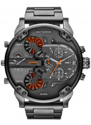 Diesel Men's Chronograph Four Time Zone Dial Gunmetal Ion-plated Watch DZ7315
