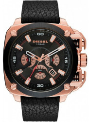 Diesel Men's BAMF Chronograph Black Leather Watch DZ7346