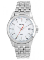 Seiko Men's Silver Dial Stainless Steel Watch SGEG83