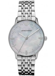 Emporio Armani Women's Silver Dial Silver Tone Watch AR1602