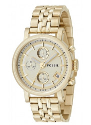 Fossil Women's Boyfriend Chronograph Gold Dial Watch ES2197