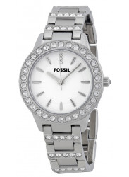 Fossil Women's White Dial Stainless Steel Watch ES2362