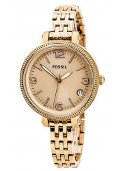 Fossil Women's Heather Rose Dial Rose Gold Tone Watch ES3182