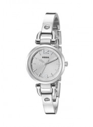 Fossil Women's Georgia Silver Dial Silver Tone Watch ES3269