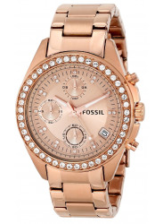 Fossil Women's Decker Chronograph Rose Gold-tone Watch ES3352