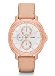 Fossil Women's Chelsey Beige Leather Watch ES3358