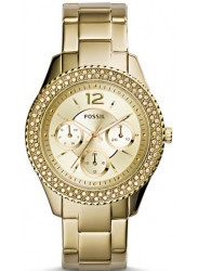 Fossil Women's Stella Champagne Dial Gold-tone Watch ES3589