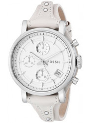 Fossil Women's ES3811 Original Boyfriend Stainless Steel Watch with Beige Leather Band