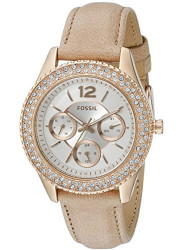 Fossil Women's Stella Cream Leather Strap Watch ES3816