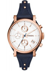 Fossil ES3838 Women's Original Boyfriend Chronograph Leather Watch